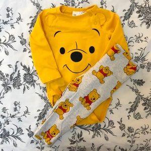 3/$35 H&M 4-6M Disney Winnie the Pooh Matching Set